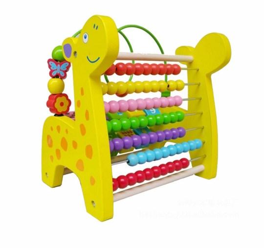 JKP Toys ของเล่นไม้ ไม้รางลูกคิดจำนวน10หลัก